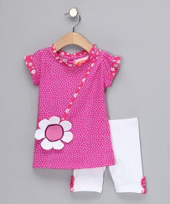 Pink Daisy Tunic & Shorts - Infant, Toddler & Girls