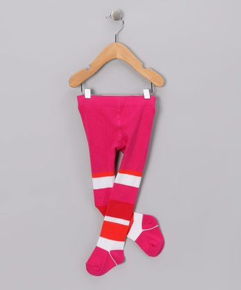 Ruby Red Stripe Tights - Infant & Toddler