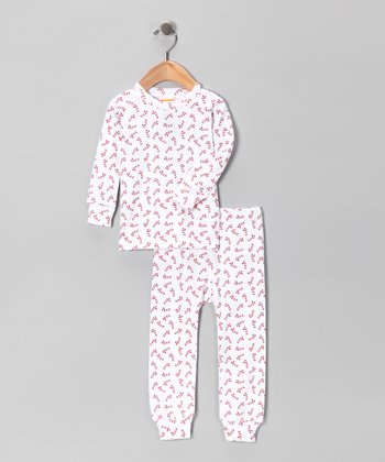 Red Sugar Cane Pajama Set - Infant, Toddler & Kids