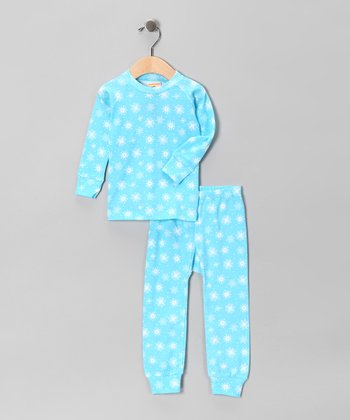 Blue Snowflake Pajama Set - Infant & Kids