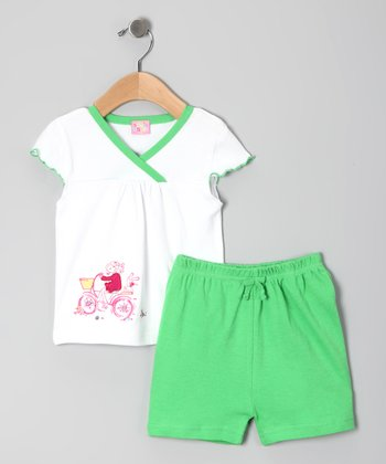 Green Bicycle Top & Shorts