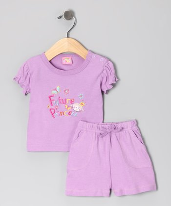 Lilac 'Future Princess' Tee & Shorts