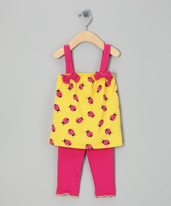 Yellow Ladybug Tunic & Leggings