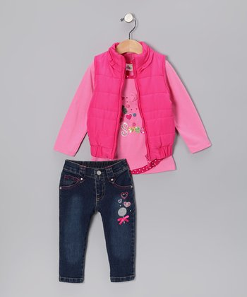 Pink Sweet Vest Set - Toddler