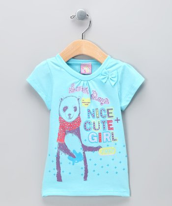Blue 'Nice and Cute' Tee