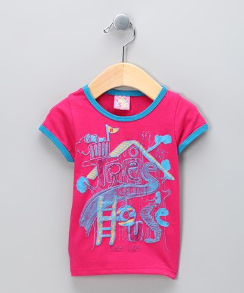 Hot Pink 'Tree House' Tee