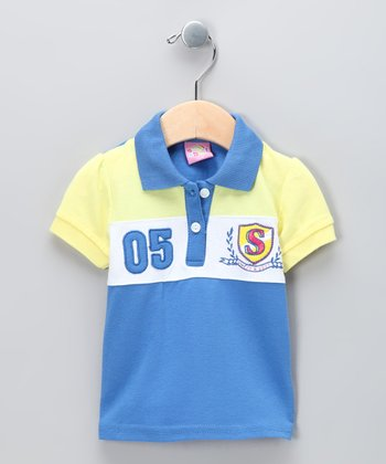 New York-Designed Blue '05' Polo - Infant