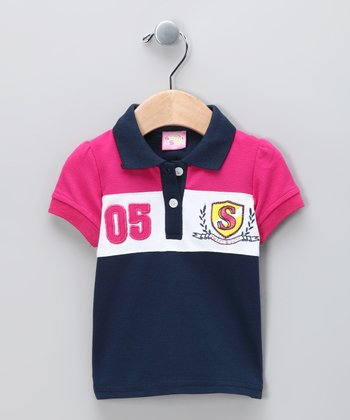 New York-Designed Navy '05' Polo - Infant
