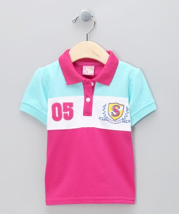 New York-Designed Pink '05' Polo - Infant