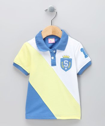 New York-Designed Blue Crown Polo - Infant