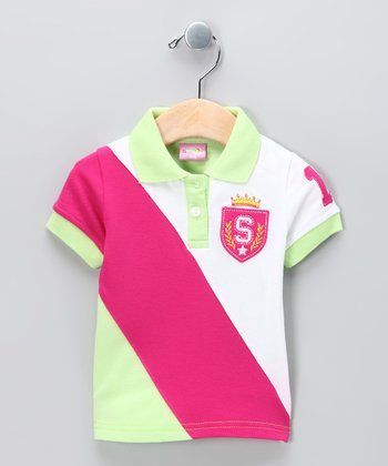 New York-Designed Lime Crown Polo - Infant