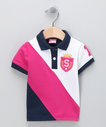 New York-Designed Navy Crown Polo - Infant