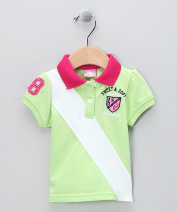 Lime 'Sport League' Polo