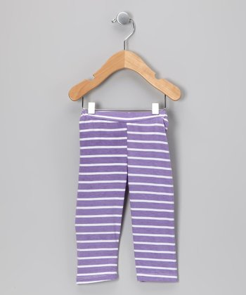 Purple Stripe Leggings