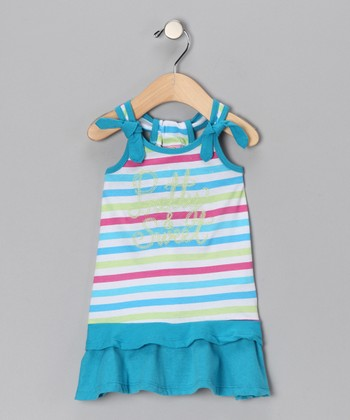 Blue Stripe 'Pretty & Sweet' Dress