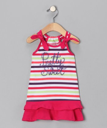 Pink Stripe 'Pretty & Sweet' Dress