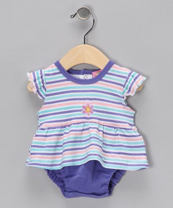 Purple Stripe Tunic & Diaper Cover