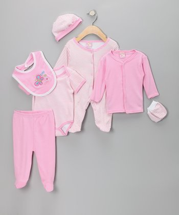 Sweet & Soft Pink 'Love to Love' Layette Set