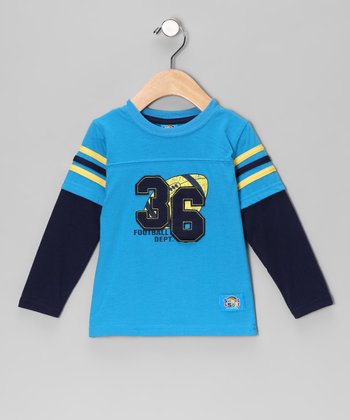 Blue 'Football Dept.' Layered Tee - Infant
