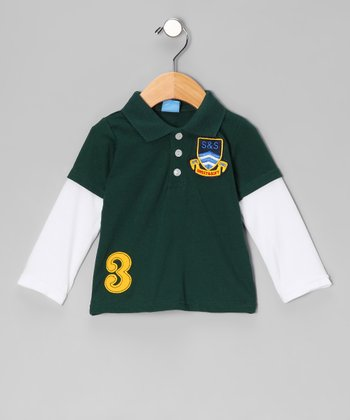 Green 'S&S' Layered Polo - Infant