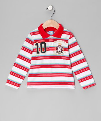 Red Stripe Polo - Infant