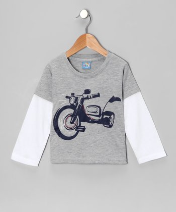 Gray Motorcycle Layered Tee