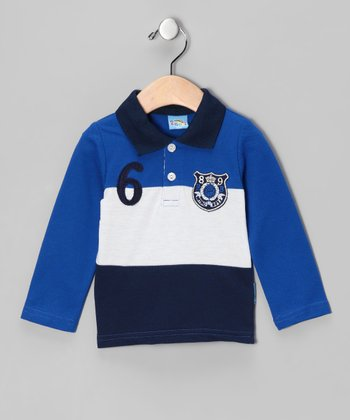 Navy 'Retro Boys' Polo - Infant