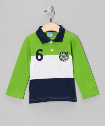 Green 'Retro Boys' Polo - Infant