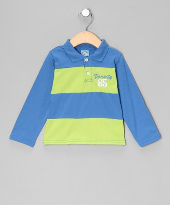 Blue 'Varsity' Polo - Infant