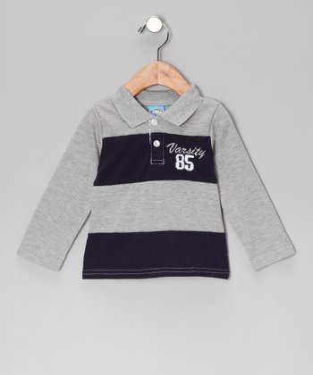 Gray 'Varsity' Polo - Infant