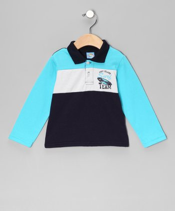 Navy 'Surf Team' Polo - Infant