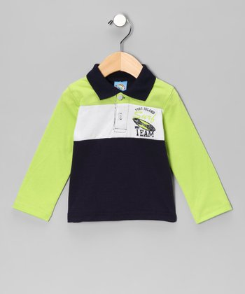 Green 'Surf Team' Polo - Infant