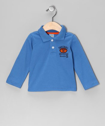 Blue 'Football Division' Polo - Infant