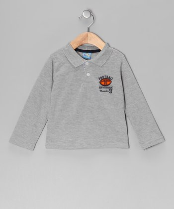 Gray 'Football Division' Polo - Infant