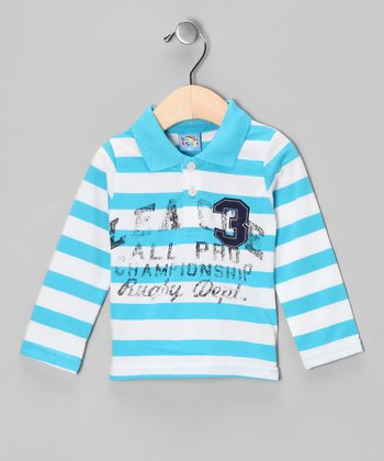 Blue 'Rugby Dept.' Polo - Infant