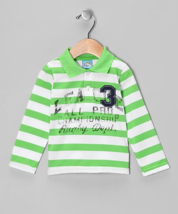 Green 'Rugby Dept.' Polo - Infant