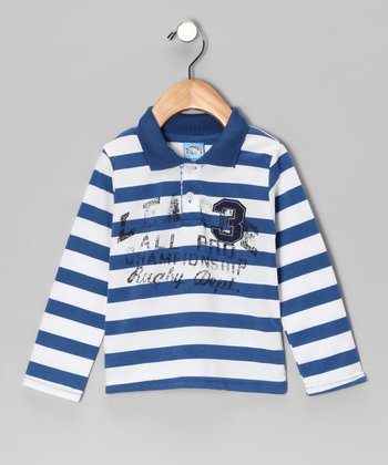 Sweet & Soft Navy 'Rugby Dept.' Polo - Infant