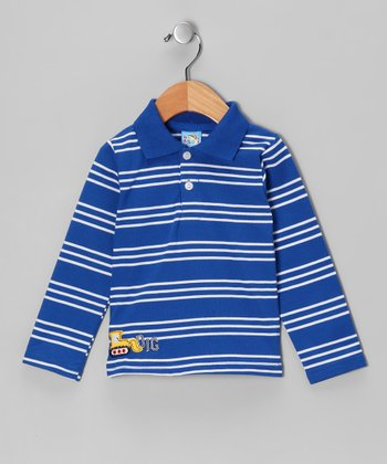 Blue Stripe 'Dig' Polo - Infant