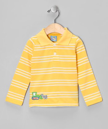 Yellow Stripe 'Dig' Polo - Infant