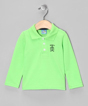 Green 'Grade 4' Polo - Infant