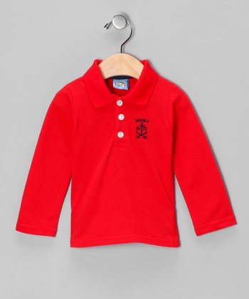 Red 'Grade 4' Polo - Infant
