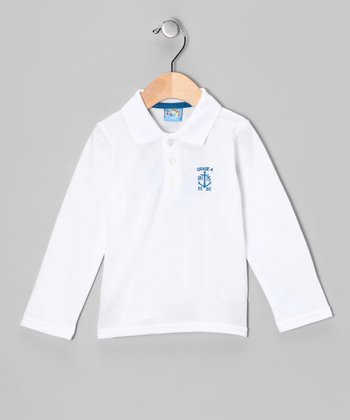 White 'Grade 4' Polo - Infant