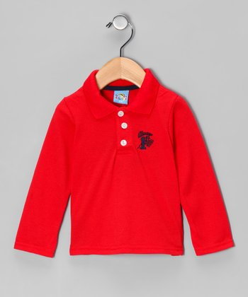 Red '1st' Polo - Infant