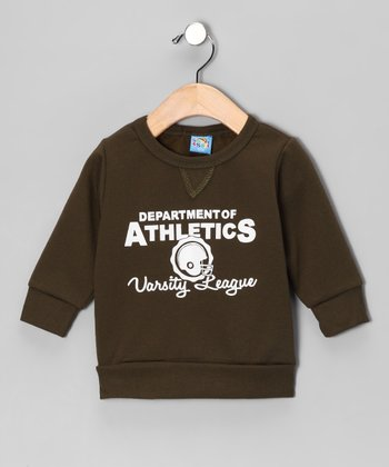 Green 'Department of Athletics' Sweatshirt - Infant