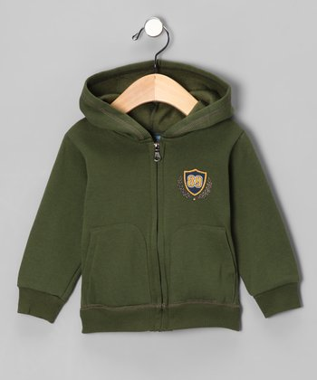 Green Crest Zip-Up Hoodie - Infant