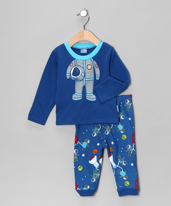 Blue Astronaut Long-Sleeve Tee & Pants