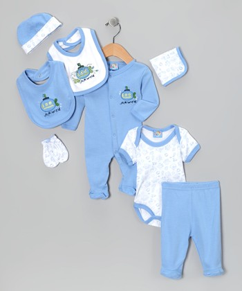 Blue 'Underworld' Eight-Piece Layette Set - Infant