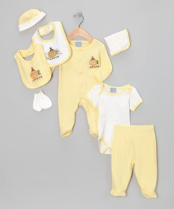 Yellow 'Underworld' Eight-Piece Layette Set - Infant