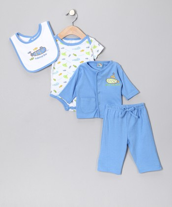 Blue Submarine Pants Set