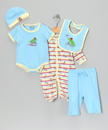 Blue Bicycle Five-Piece Layette Set - Infant